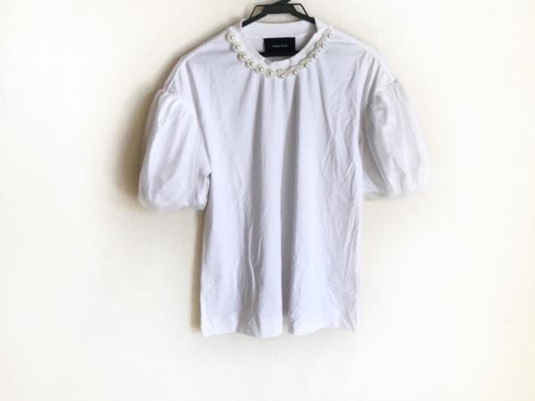 simone rocha(シモーネロシャ) 半袖カットソー サイズS レディース 白 フェイクパール
