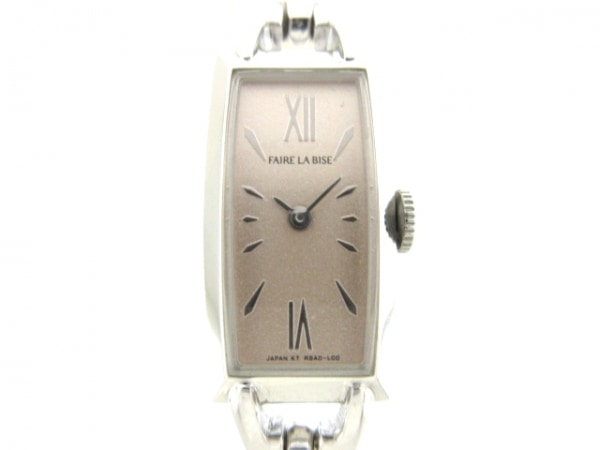 Faire la bise(フェルラビーズ) 腕時計美品  RBAD-00 レディース ピンク