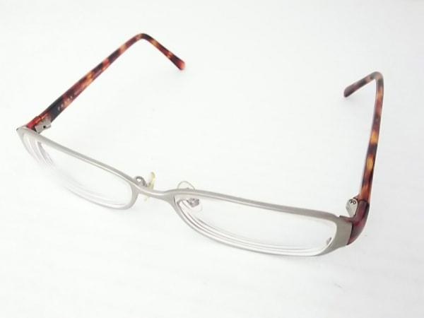 PRADA(プラダ) メガネ VPR72G シルバー×ブラウン×マルチ 金属素材×プラスチック