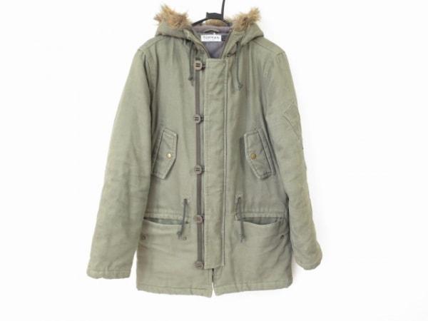 TOPMAN(トップマン) コート サイズS メンズ美品  カーキ フェイクファー/冬物
