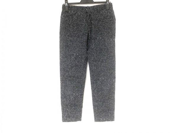 パラスパレス パンツ サイズ2 M レディース新品同様  ネイビー×アイボリー