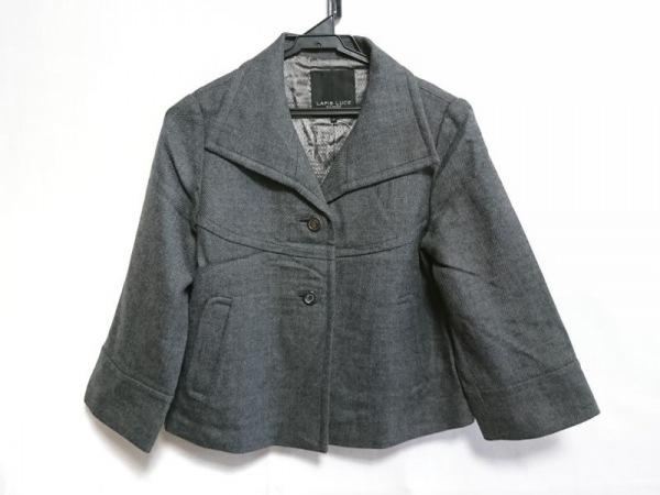 ラピスルーチェ コート サイズ38 M レディース美品  グレー ショート丈/冬物