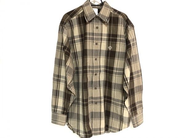 クリスチャンディオールムッシュ 長袖シャツ サイズ120 メンズ美品  チェック柄