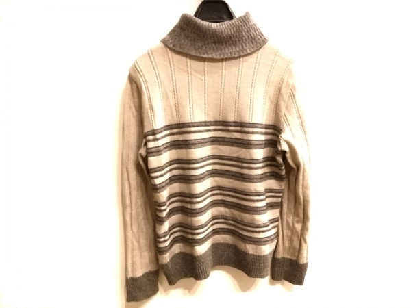 ROCHAS(ロシャス) 長袖セーター サイズ11 M レディース美品  ライトグレー×グレー