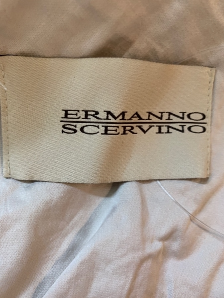 ERMANNO SCERVINO(エルマノシェルビーノ) ジャケット レディース 白×グレー