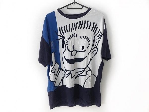 カステルバジャック 半袖Tシャツ サイズ50 メンズ ネイビー×ブルー×マルチ