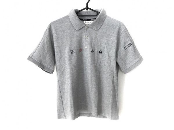 PICONE(ピッコーネ) 半袖ポロシャツ サイズ2 M レディース美品  グレー 刺繍/CLUB