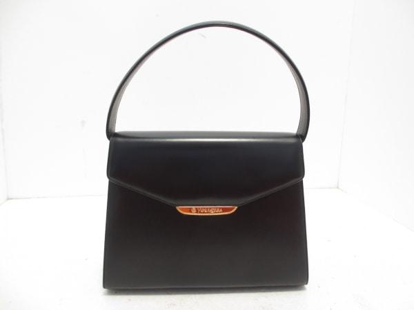 yumi katsura(ユミカツラ) ハンドバッグ 黒×ゴールド レザー