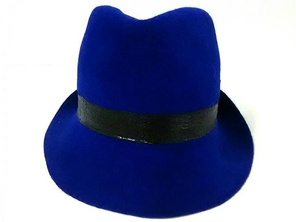 Muhlbauer(ミュールバウアー) ハット美品  ブルー×黒 ラビット