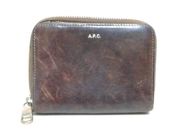 A.P.C.(アーペーセー) 2つ折り財布 ダークブラウン レザー