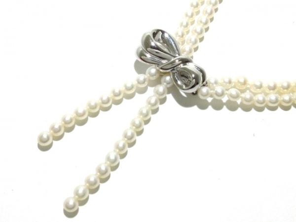 田崎真珠(タサキシンジュ) ネックレス美品  パール×シルバー パールホワイト
