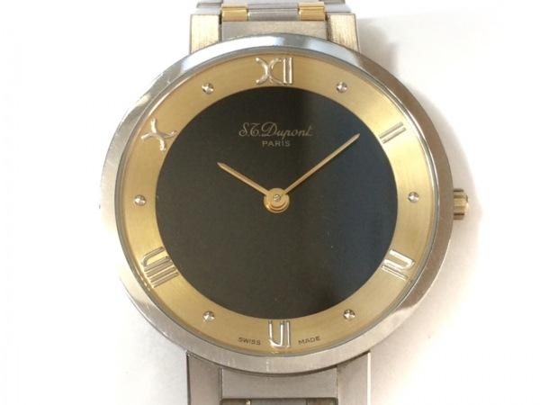 Dupont(デュポン) 腕時計 196.11 メンズ 黒