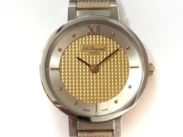 Dupont(デュポン) 腕時計美品  8-0301 レディース ゴールド