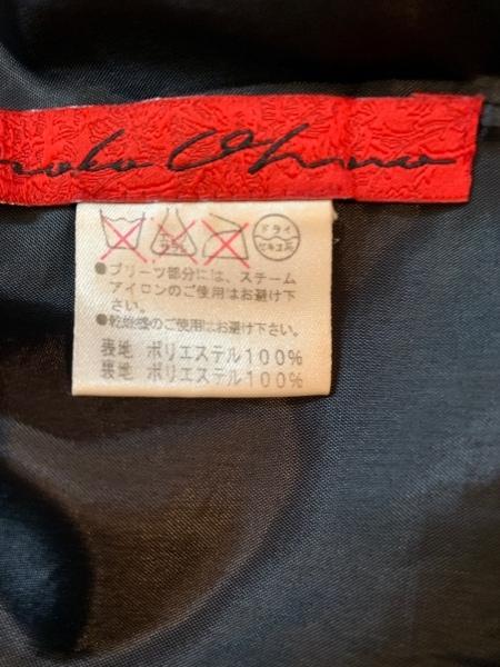 NOKO OHNO(ノコオーノ) スカート レディース美品  黒×マルチ 花柄/プリーツ