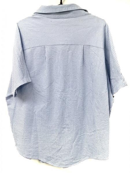ヒステリックグラマー 半袖シャツブラウス サイズF レディース美品  ライトブルー×白