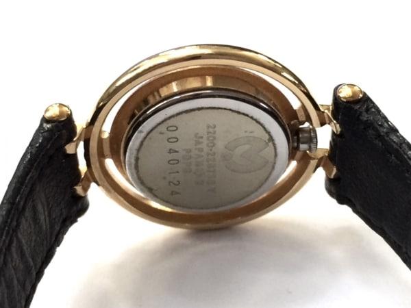 mila schon(ミラショーン) 腕時計 2200-229738 レディース 革ベルト アイボリー