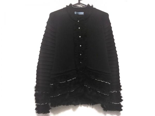 BLUMARINE(ブルマリン) カーディガン レディース美品  黒 フェイクパール