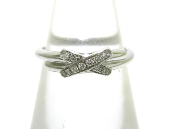 CHAUMET(ショーメ) リング 46美品  リアン K18WG×ダイヤモンド