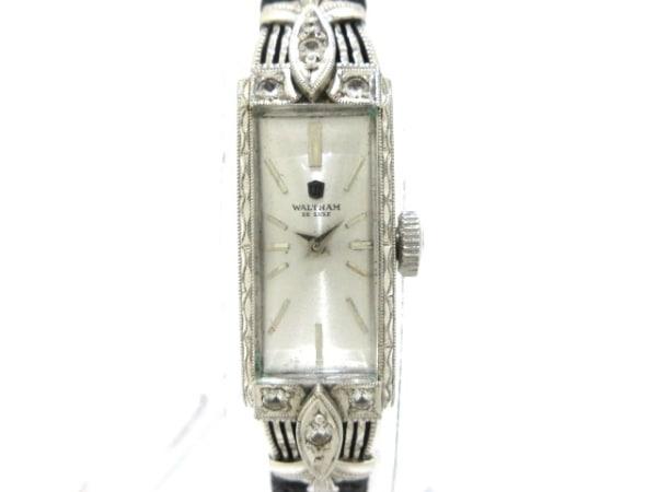 WALTHAM(ウォルサム) 腕時計 2795 レディース 社外ベルト/K14WG/6Pダイヤ シルバー