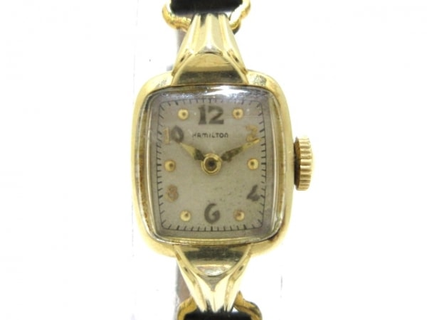 HAMILTON(ハミルトン) 腕時計 - レディース 社外ベルト/アンティーク ライトベージュ