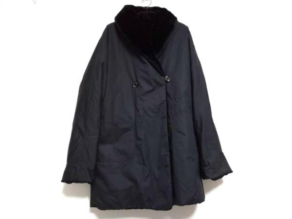 FENDI(フェンディ) コート サイズ40 M レディース 黒 冬物/リバーシブル