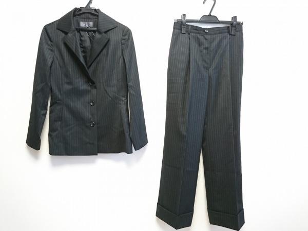 ジュンコシマダ レディースパンツスーツ サイズ2 M レディース 黒×白 ストライプ