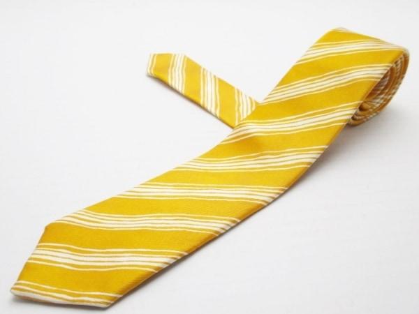 PaulSmith(ポールスミス) ネクタイ メンズ オレンジ×アイボリー 斜めストライプ
