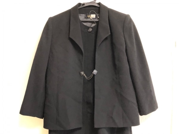 SOIR BENIR(ソワールベニール) ワンピーススーツ サイズ9 M レディース 黒