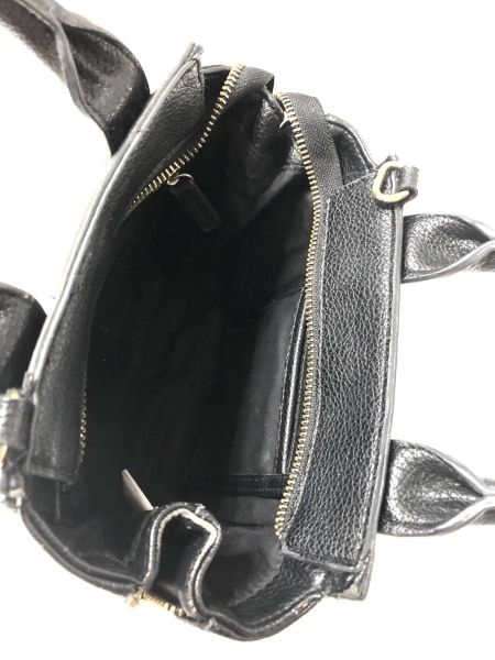 スリーワンフィリップリムフォーターゲット ハンドバッグ 黒 レザー