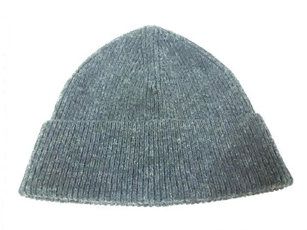 LONE ONES(ロンワンズ) ニット帽美品  ダークグレー ウール