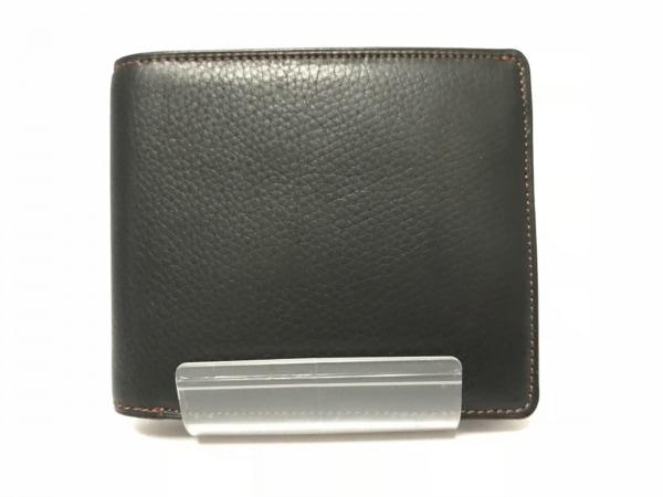 CYPRIS(キプリス) 2つ折り財布 黒 レザー