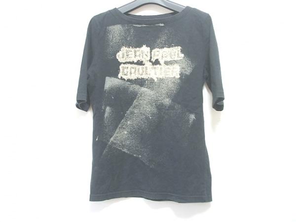 JeanPaulGAULTIER(ゴルチエ) 半袖Tシャツ サイズ40 M レディース 黒×アイボリー