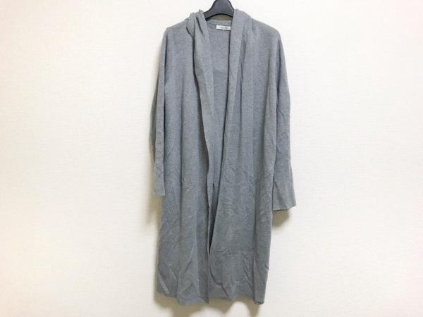 moussy(マウジー) コート サイズF レディース美品  グレー ニット/春・秋物