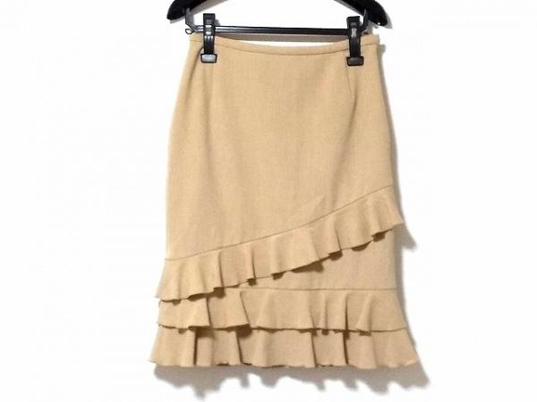 YUKITORII(ユキトリイ) スカート サイズ9 M レディース ベージュ フリル
