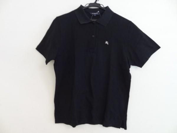 BURBERRYGOLF(バーバリーゴルフ) 半袖ポロシャツ サイズL メンズ 黒
