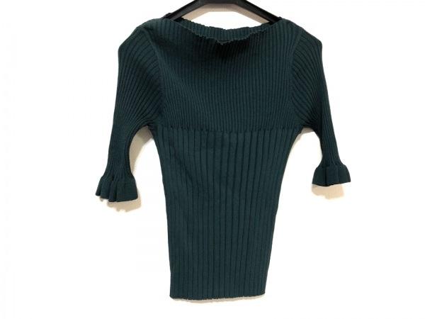 グレースコンチネンタル 七分袖セーター サイズ36 S レディース ダークグリーン