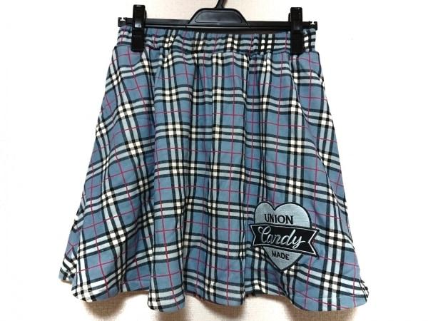 キャンディストリッパー スカート サイズ2 M レディース ブルー×マルチ チェック柄