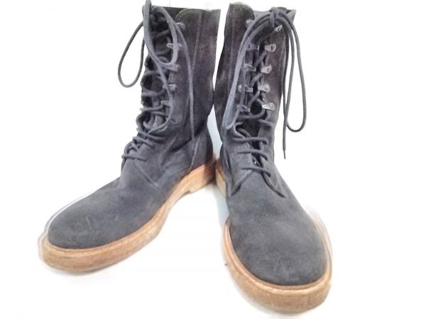 アンドゥムルメステール ブーツ 42 1/2 メンズ ダークグレー スエード