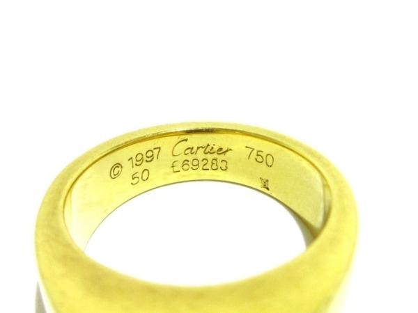 カルティエ リング 50美品  タンクリング K18YG×アメジスト 5