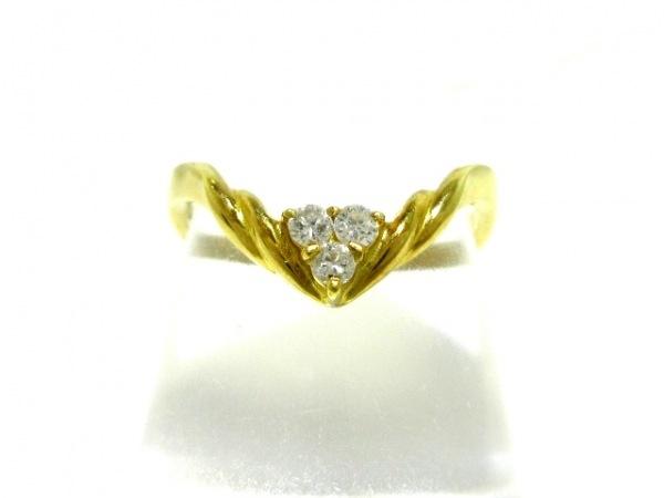 田崎真珠(タサキシンジュ) リング美品  K18YG×ダイヤモンド 3Pダイヤ