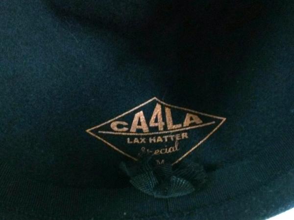 CA4LA(カシラ) ハット M美品  黒 ウール