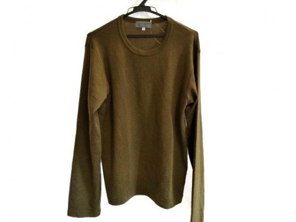 yohjiyamamoto(ヨウジヤマモト) 長袖セーター サイズ3 L メンズ カーキ POUR HOMME