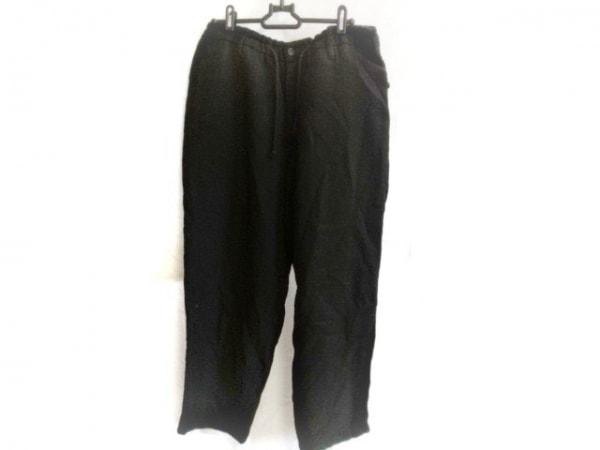 yohjiyamamoto(ヨウジヤマモト) パンツ サイズ2 M メンズ 黒 POUR HOMME/ウール