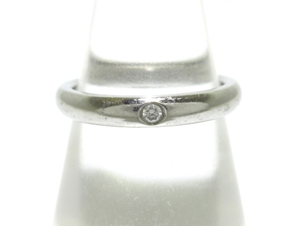 TIFFANY&Co.(ティファニー) リング美品  バンドリング Pt950×ダイヤモンド 1Pダイヤ