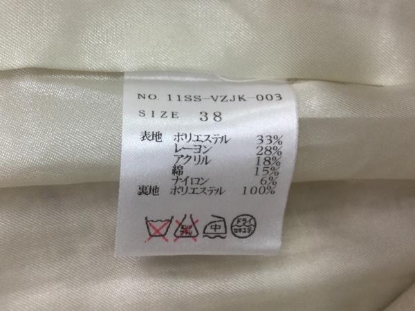 バーニーズ ジャケット サイズ38 M レディース美品  アイボリー×ピンク×マルチ