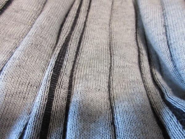 バーバリーゴルフ 長袖セーター サイズL レディース ライトブルー×黒 ストライプ