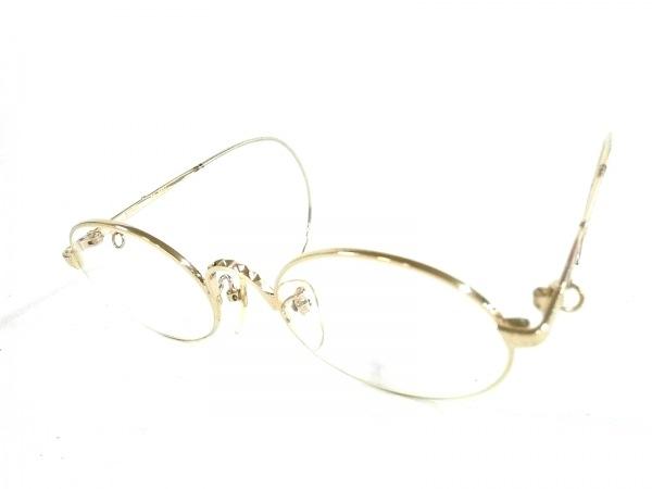 ゴルチエ メガネ 55-9604 クリア×ゴールド 度入り プラスチック×金属素材