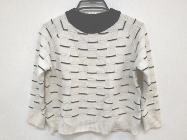 グレースコンチネンタル 長袖セーター サイズ36 S レディース美品  アイボリー×黒
