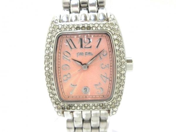 フォリフォリ 腕時計 WF5T081BD レディース ラインストーンベゼル ピンク