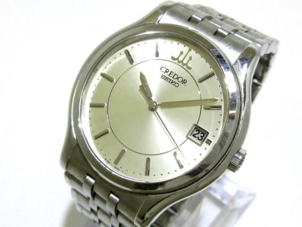 SEIKO CREDOR(セイコークレドール) 腕時計 8J86-7A00 メンズ シルバー